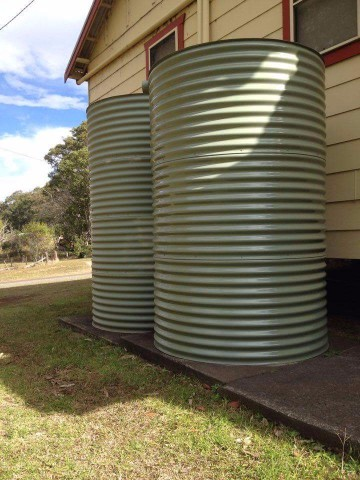 Water tanks for a local hall