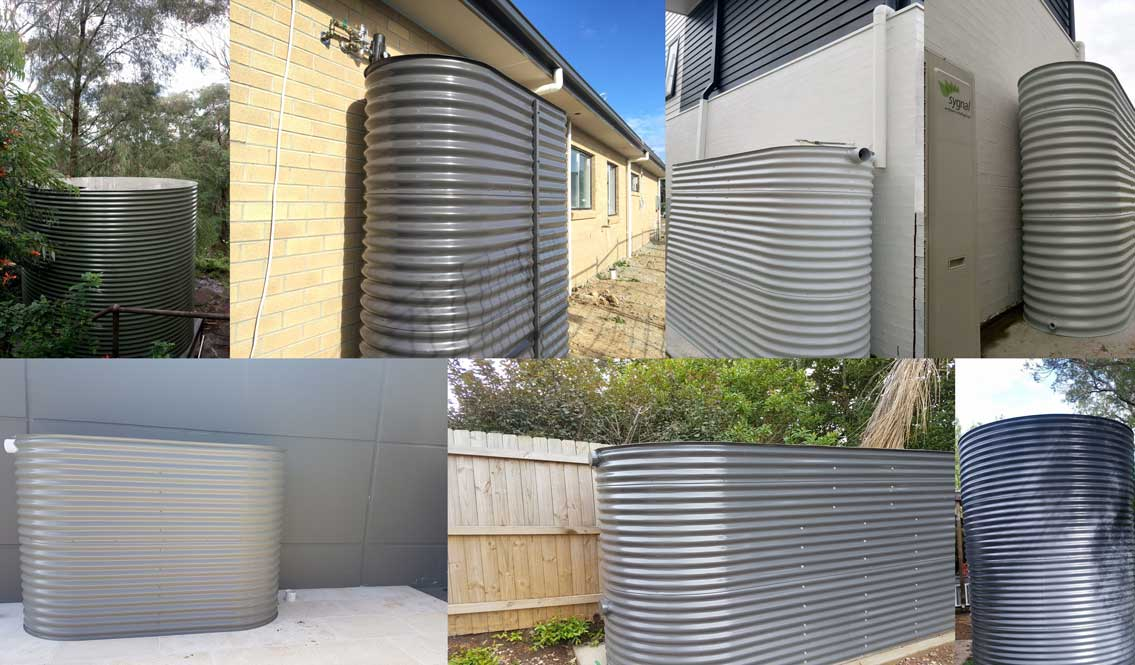 Steel water tanks round and slimline available in custom sizes